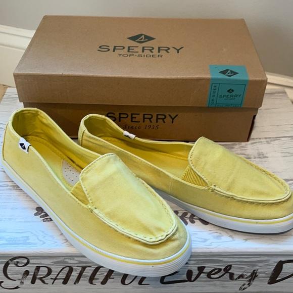 Sperry slip-on- yellow